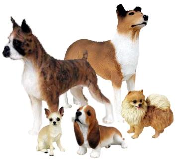 Dog figurines from Animal Figurine Store