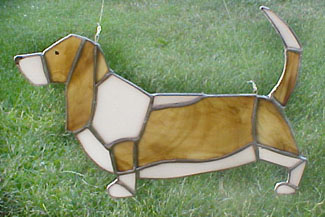Basset Hound Stained Glass Look Cross Stitch Pat | eBay