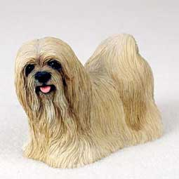 Lhasa Apso Dog Breed Figurine