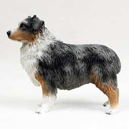 Australian Shepherd Dog Breed Figurine