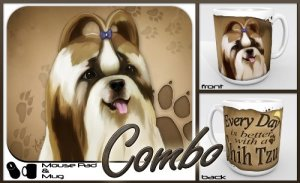 Shih Tzu Dog Breed Gift Mug and Mouse Pad