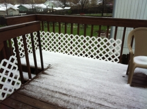 Snow in Kansas April 23