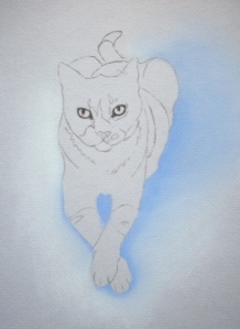 Deuce the Cat Traced Sketch