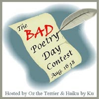 Bad Poetry Day Badge