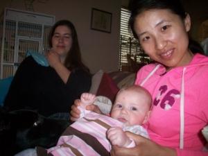 My Dog Pierson and Baby Elizabeth