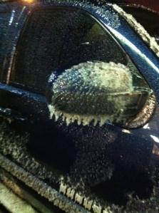 Oklahoma Ice Coating a Car