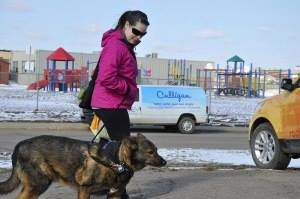 Kimberly and Rolo Walking