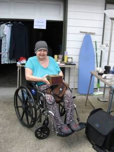 Mom at a Garage Sale 7-19-14