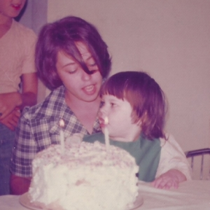 Mom and Me on My 2nd Birthday